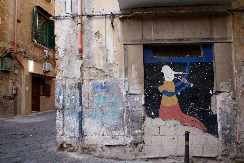 Ancien magasin de vins et d'huile muré dans les Quartiers Espagnols à Naples.