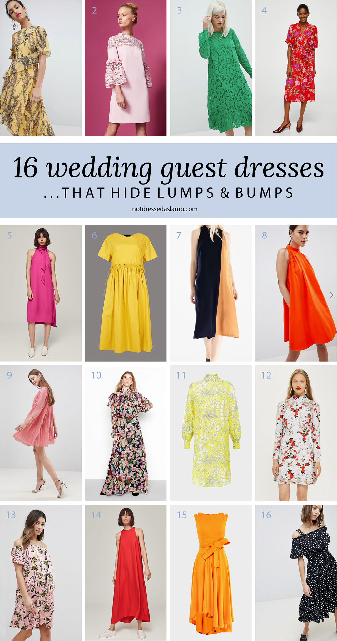 What to Wear to a Summer Wedding for All Shapes & Sizes: 16 Wedding Guest Dresses That Hide Lumps and Bumps - Not Dressed As Lamb