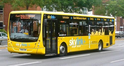 YN08 CWW 'Kinchbus' No. 504, 'Skylink'. Volvo B7RLE / Plaxton Centro on Dennis Basford's railsroadsrunways.blogspot.co.uk'