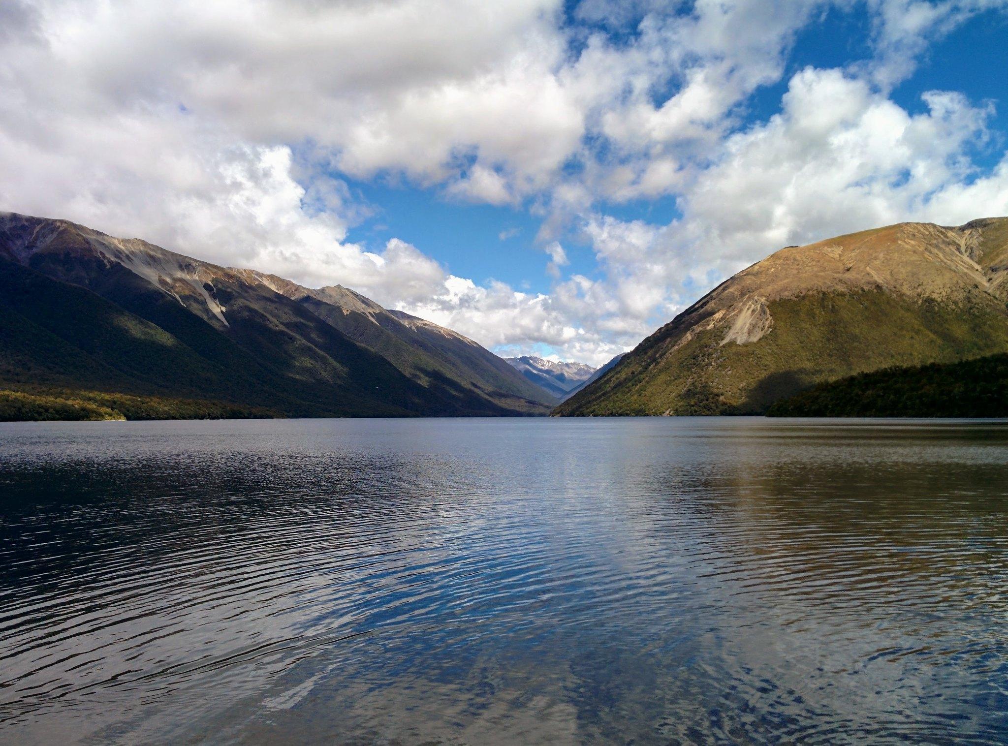 Lake Rotoiti and the surrounding mountains