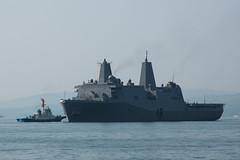 USS Green Bay (LPD 20) arrives in Sasebo, April 28. (U.S. Navy/MC2 Jordan Crouch)