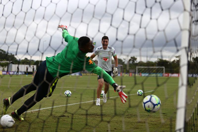 Treino da Seleção Sub-20 no CT do Corinthians