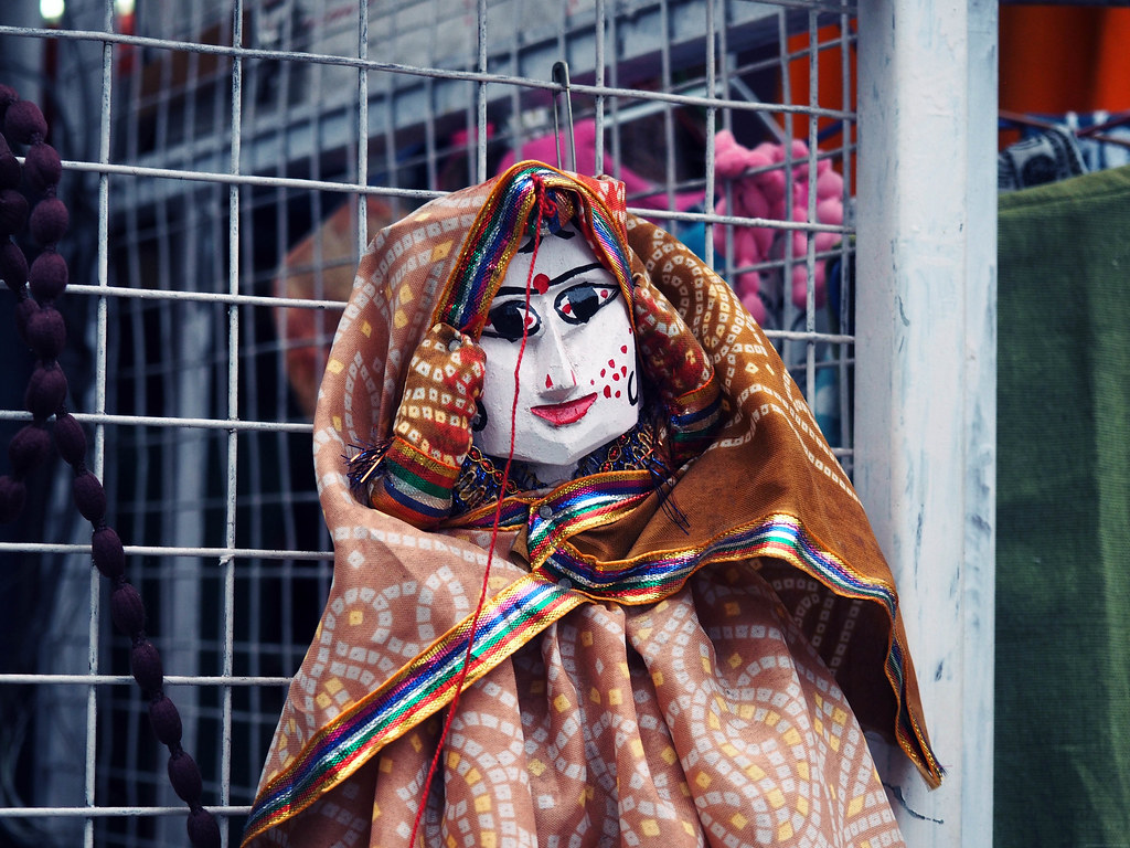 India Scary Doll in Cochin Kochi Kerela India_effected