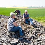 Fossiele vissen zoeken bij Gerbstedt