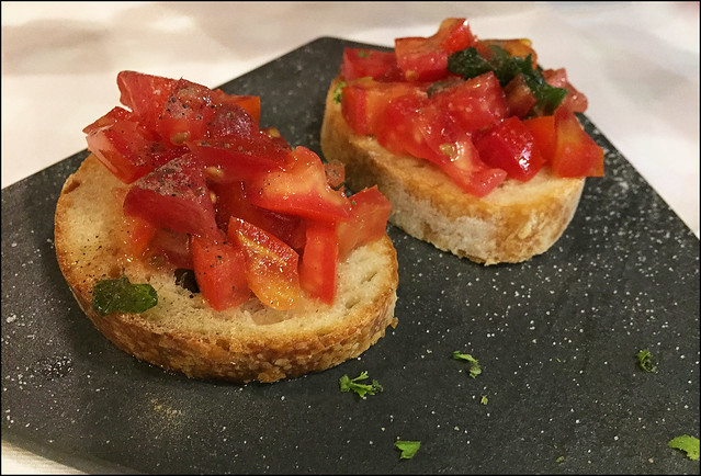 Bruschetta at La Casina Rossa Restaurant