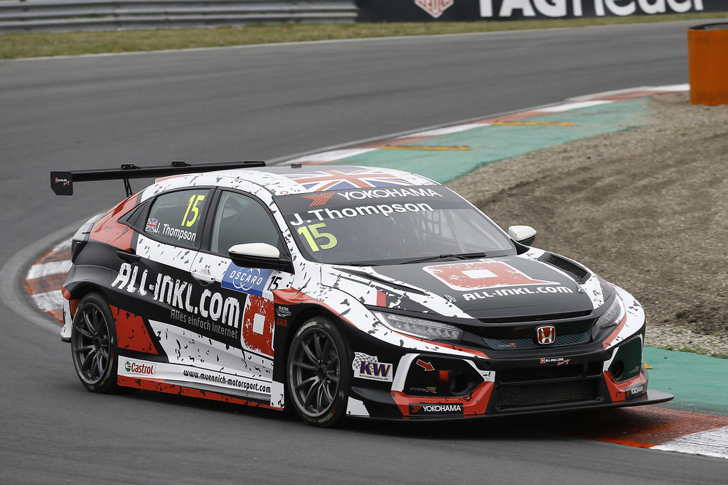 15 THOMPSON James, (gbr), Honda Civic TCR team ALL-INKL.COM Munnich Motorsport, action during the 2018 FIA WTCR World Touring Car cup of Zandvoort, Netherlands from May 19 to 21 - Photo Jean Michel Le Meur / DPPI