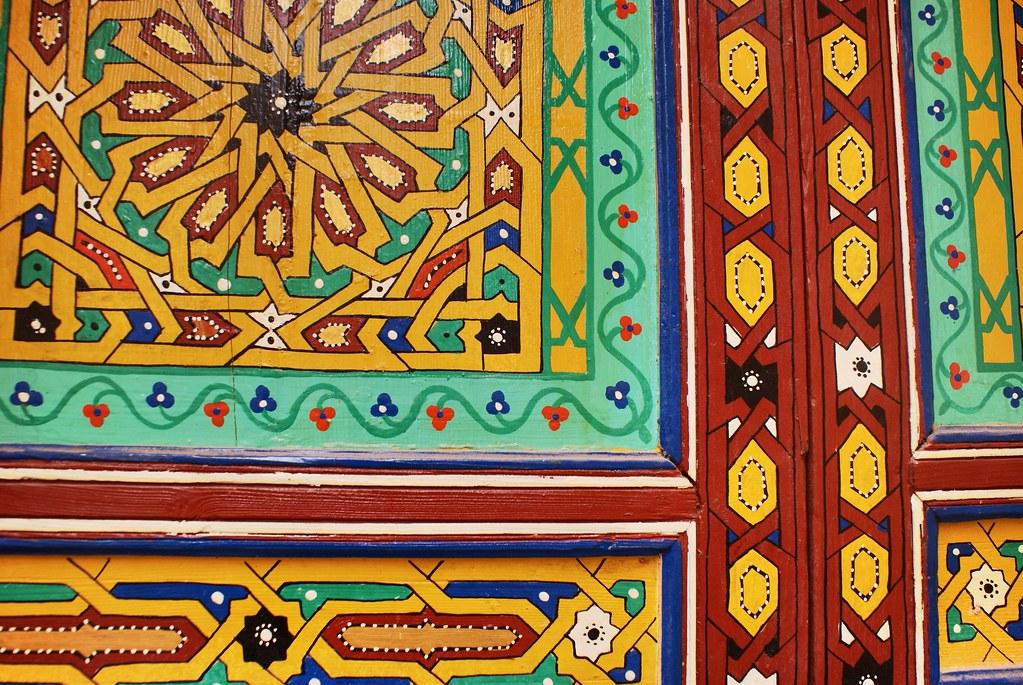 Superbe porte dans la Médina de Meknes.