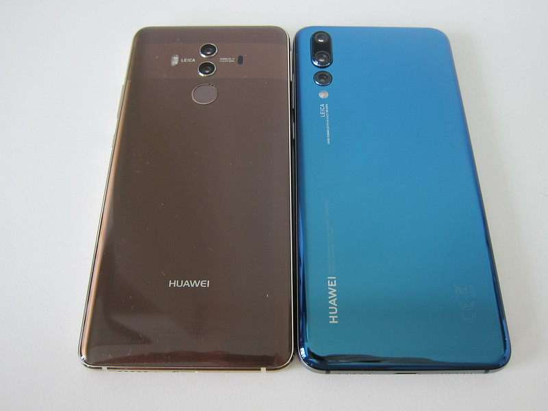 Huawei Mate 10 Pro vs Huawei P20 Pro - Back