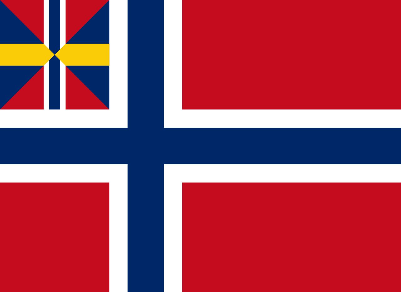 Flag of Norway, 1844-1899