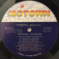 MICHAEL JACKSON:FOREVER, MICHAEL(LABEL SIDE-A)