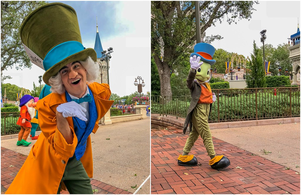 mad hatter and jiminy cricket