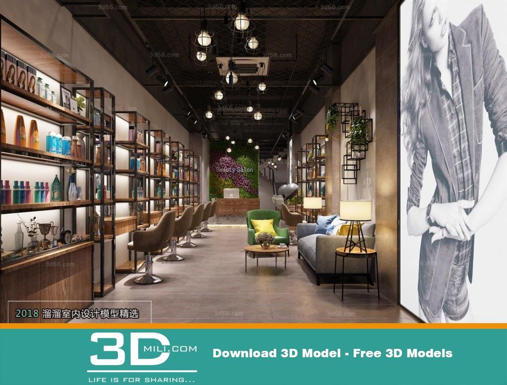 38 Exhibition Shop 3dsmax File Free Download - 3D Mili