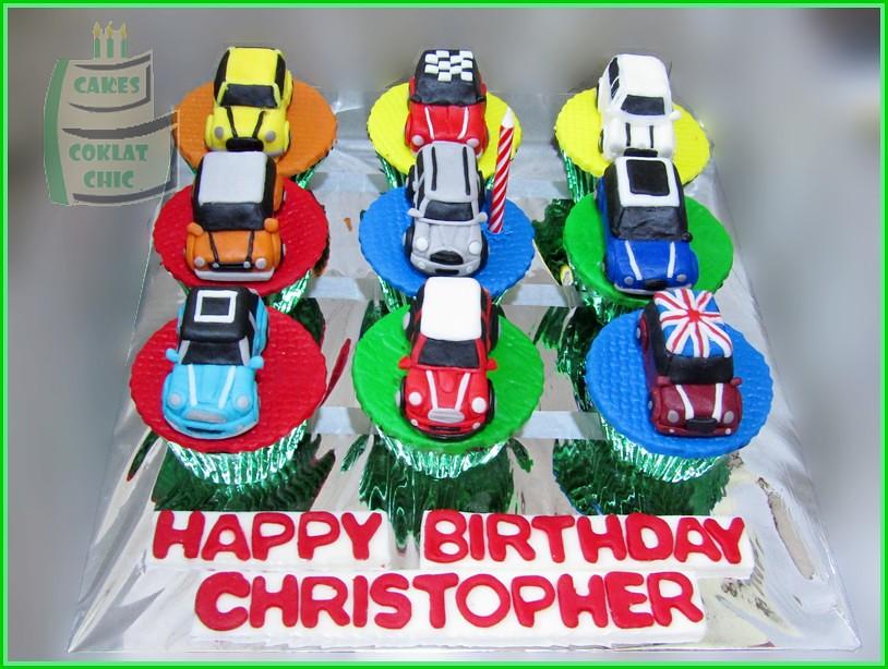 Cupcake set Minicooper CHRISTOPHER