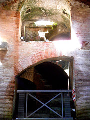 Staircase from underground to arena (1st half of 2nd century AD, Trajan and Hadrian age) - Amphitheater of Pozzuoli / Naples