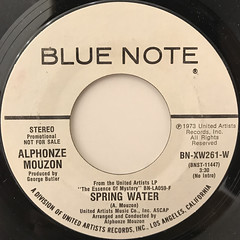 ALPHONZE MOUZON:SPRING WATER(LABEL SIDE-A)