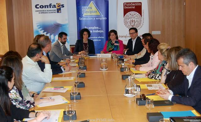 La jornada 'Sabemos que tu capital humano es importante, ¡cuéntanoslo!' ha sido organizada por la Fundación General de la Universidad de Salamanca con la colaboración de CONFAES y de Flexiplan.