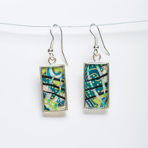 Japanese Paper Earrings by Bashful Pineapple