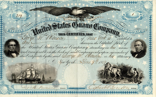 US Guano Stock Certificate