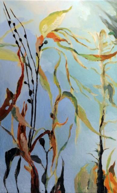 Alghe - 84x50 cm. Oil on canvas 2010
