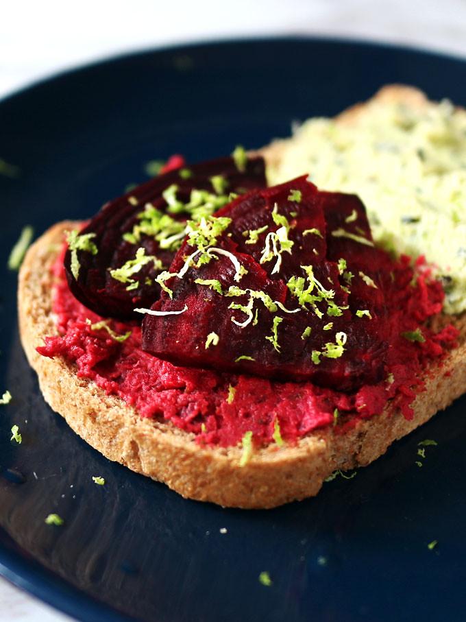 甜菜根鷹嘴豆泥 (純素) beet-hummus (10)