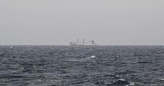Lonely Ship Underway in Antarctica