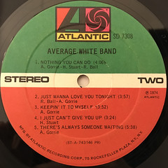 AVERAGE WHITE BAND:AVERAGE WHITE BAND(LABEL SIDE-B)