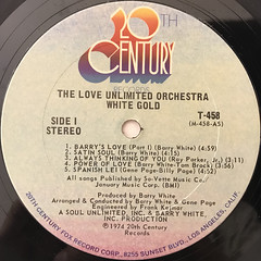 THE LOVE UNLIMITED ORCHESTRA:WHITE GOLD(LABEL SIDE-A)