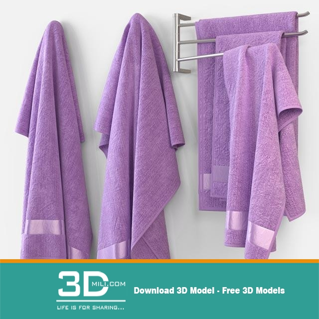 Bathroom accessories 3ds model