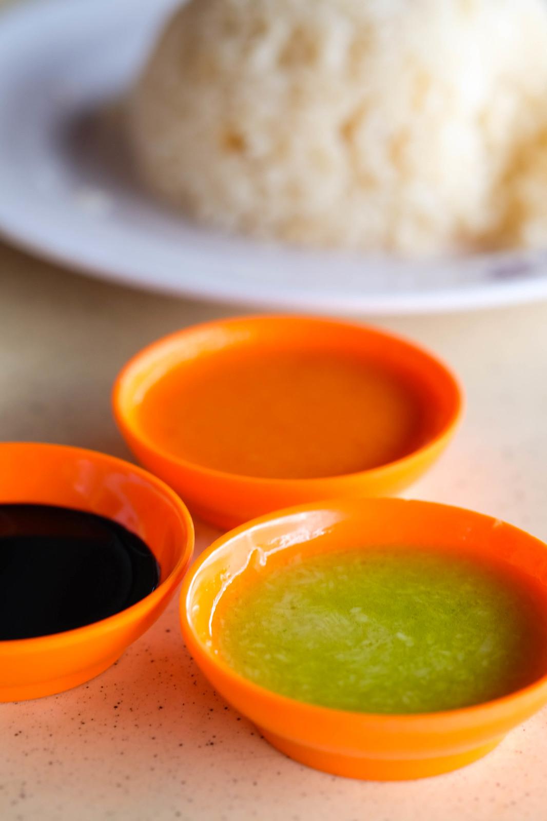 ji tou chicken rice Sauces