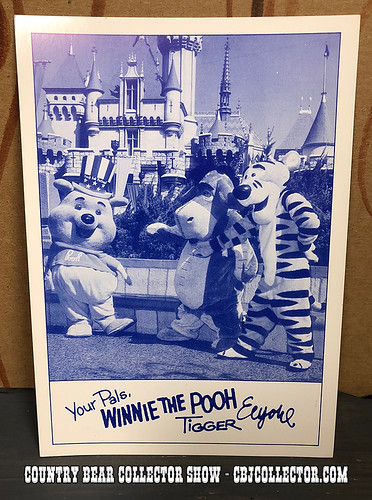 1972 Disneyland Winnie The Pooh Photo Card - Country Bear Collector Show #149