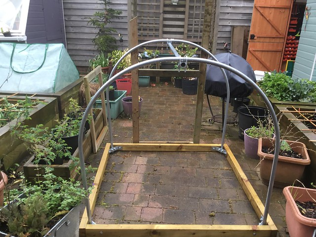 Making a door for the polytunnel