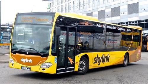 P129 BF67 WHN ''Kinchbus' No. 915, 'Skylink'. Mercedes-Benz Citaro /1 on Dennis Basford's railsroadsrunways.blogspot.co.uk' 0028