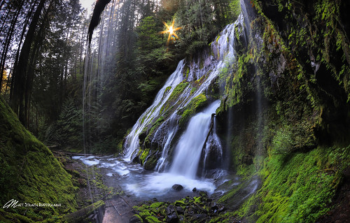 waterfall water river stream creek panther sun sunburst washington columbia columbiarivergorge gorge trail hike cat