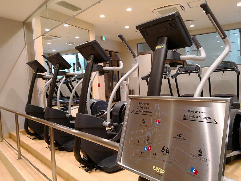 Machines in the fitness centre