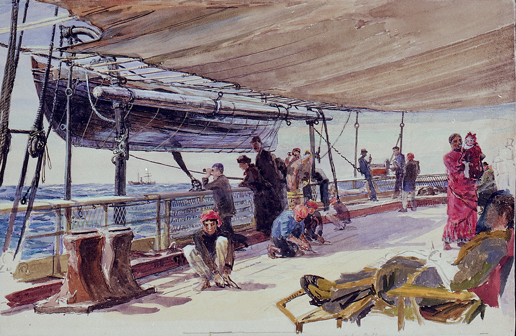 Passengers Aboard the Garonne in the West Indies (1893)