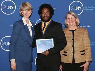 Mon, 04/16/2018 - 14:13 - Benjamin Martis receiving the SUNY Chancellor's Award