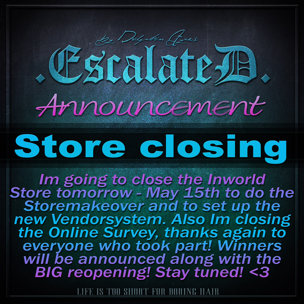 .EscalateD. Store.Closing - TeleportHub.com Live!