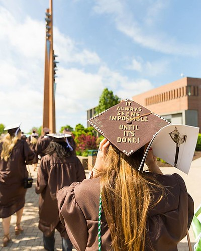 """It always seems impossible until it's done!"" Wisdom from a Class of 2017 graduate as we look forward to the Class of 2018 graduating this weekend! #TBT #ValpoGrad #GoValpo"