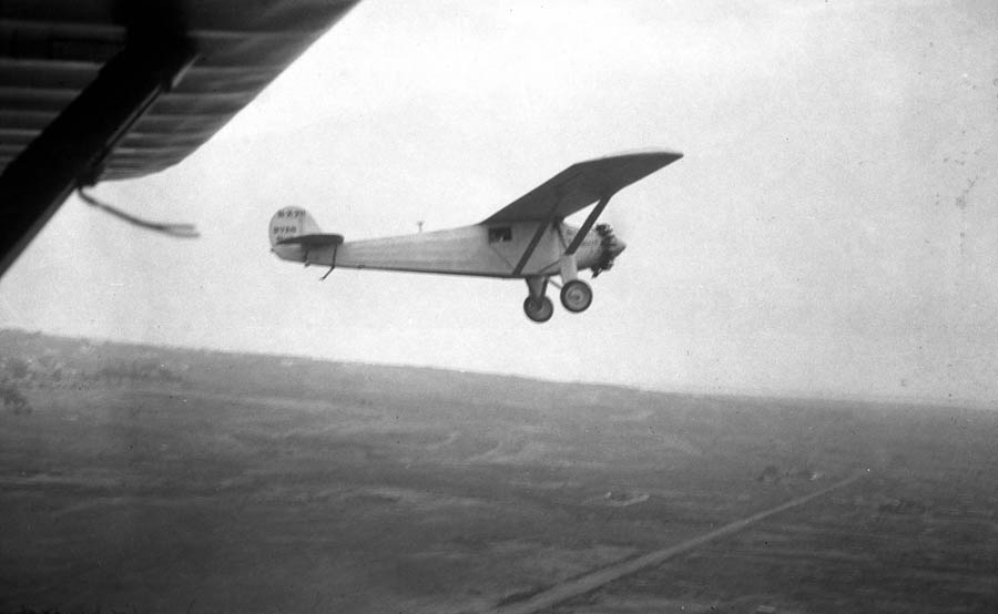 Spirit of St. Louis airborne, circa 1927.