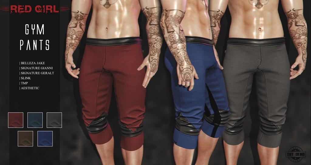 [RED GIRL] Gym Pants
