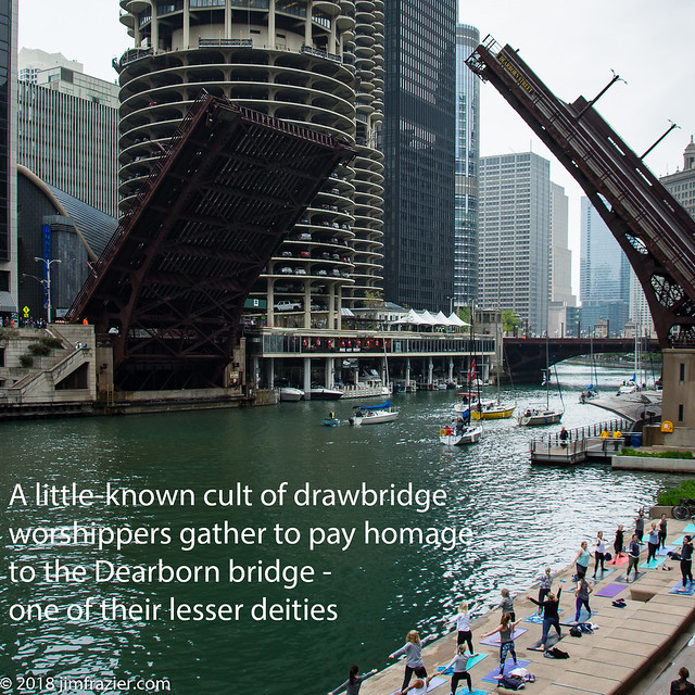 A little-known cult of drawbridge worshippers gather to pay homage to the Dearborn bridge - one of their lesser deities