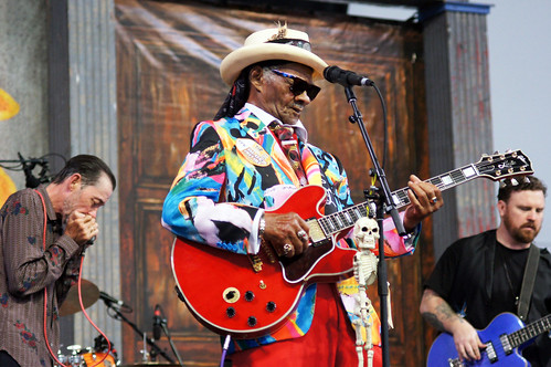 Little Freddie King  on Day 5 of Jazz Fest - May 4, 2018. Photo by Bill Sasser.