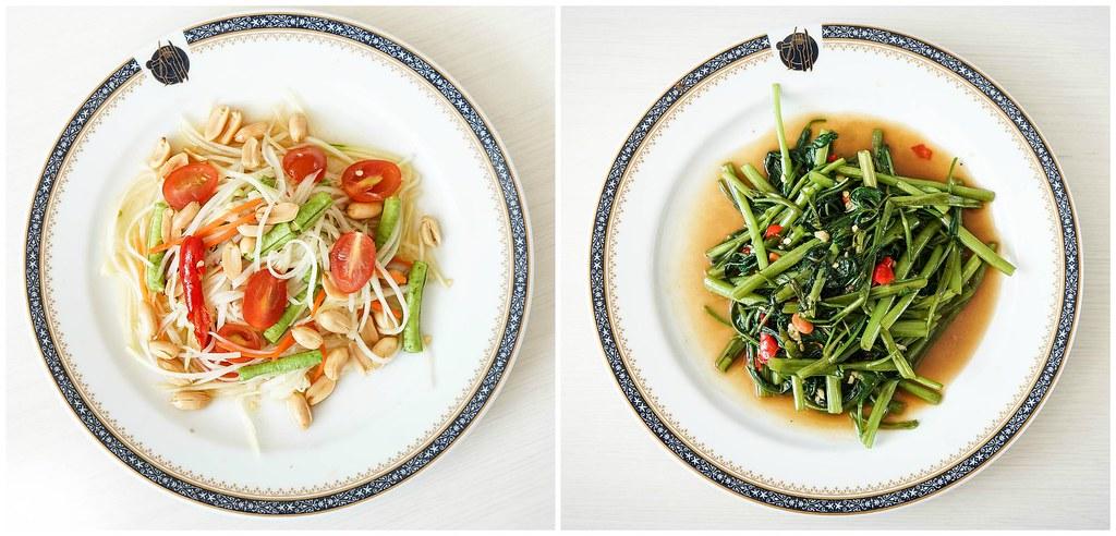 沙拉和蔬菜拼贴