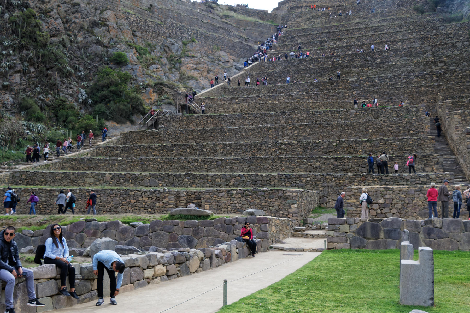 Ollantaytambo - at the foot of the Temple