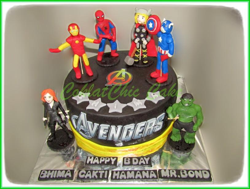 Cake The Avengers BHIMA CAKTI 18 cm