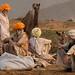 Conversations Pushkar Mela. Rajasthan by Tito Dalmau