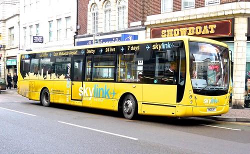 YN08 CWT 'Kinchbus' No. 761, 'Skylink'. Volvo B7RLE / Plaxton Centro on Dennis Basford's railsroadsrunways.blogspot.co.uk'