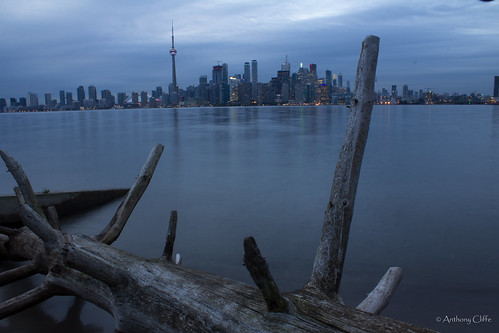Toronto Skyline from the Islands at Dusk