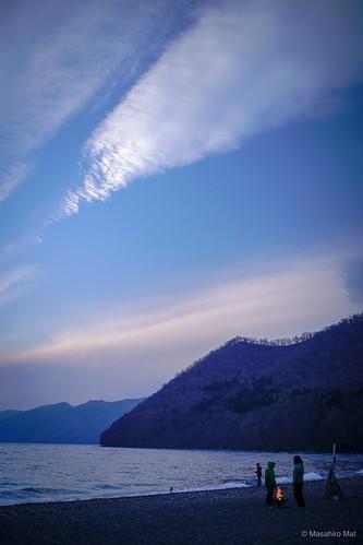 Lake Shikotsu camp vibes