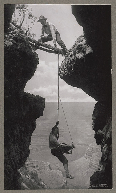 What lengths would you go to in order to photograph the Grand Canyon? (LOC)